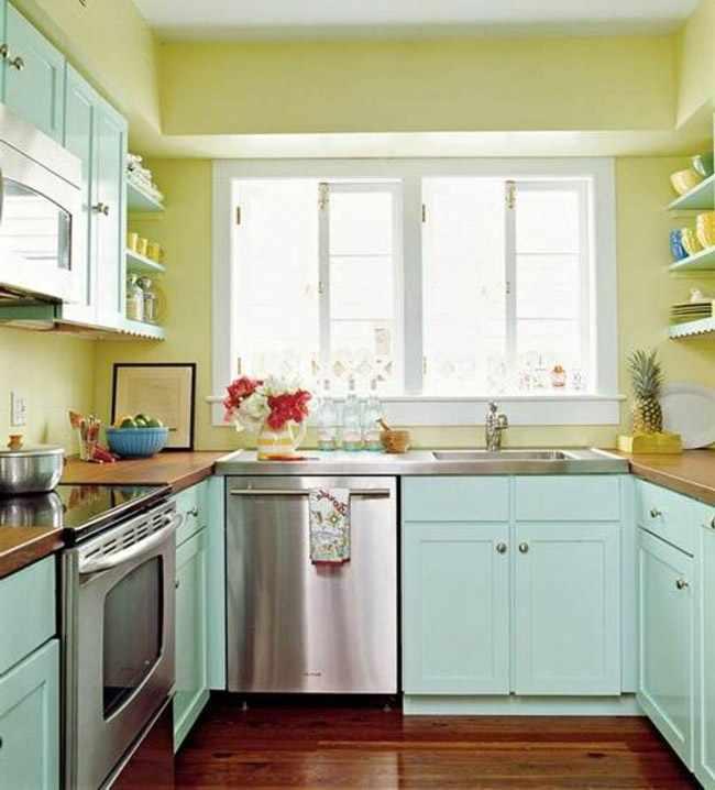 colores para decorar cocina pequeña