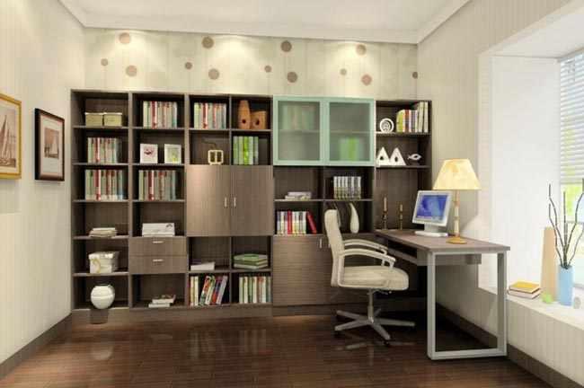 Consejos para decorar una sala de estudio - Como organizar los muebles en una casa pequena ...