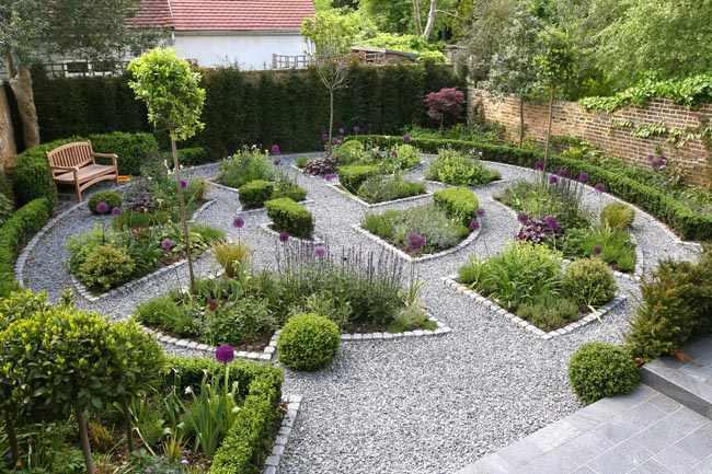 como organizar un jardin grande