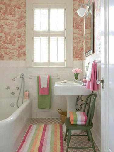 decorar baño pequeño antiguo