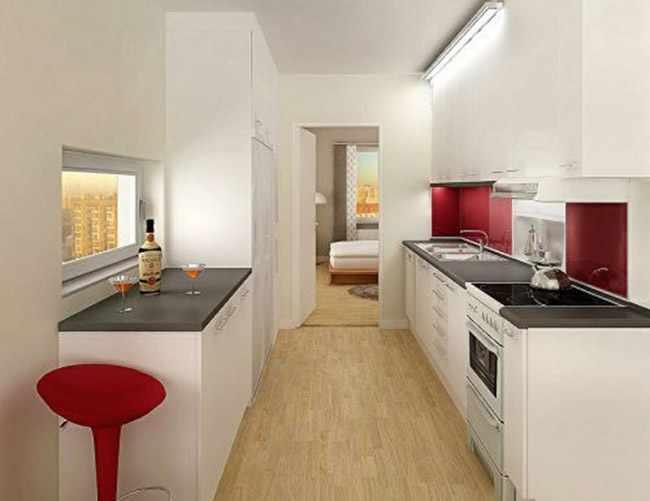 decoracion de cocina pequea perfect decoracin cocina On amueblar cocina alargada