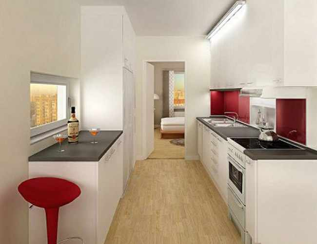 Decoracion de cocina pequea perfect decoracin cocina for Amueblar cocina alargada