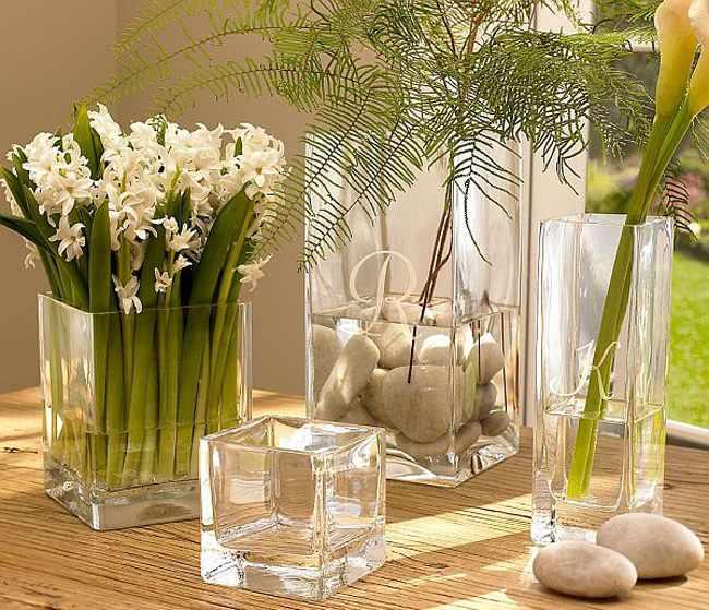 Como decorar un florero de vidrio