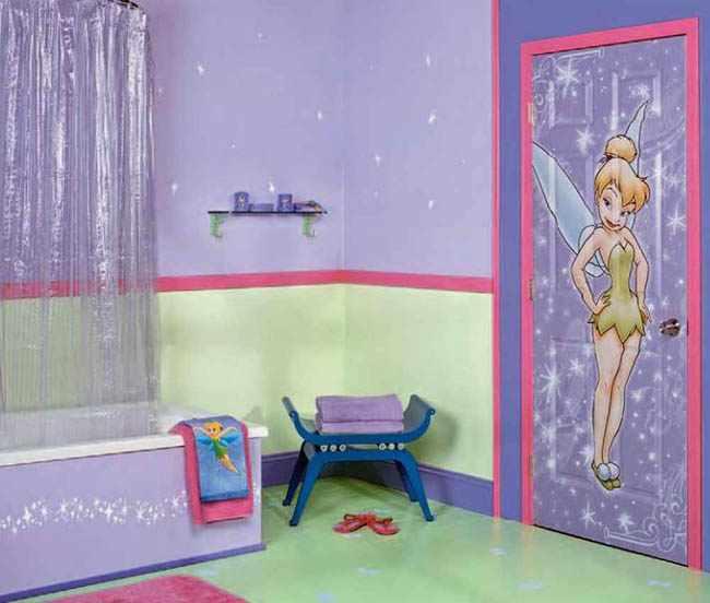como decorar baño de niños