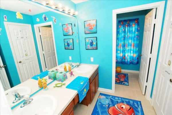 como decorar el baño de los niños
