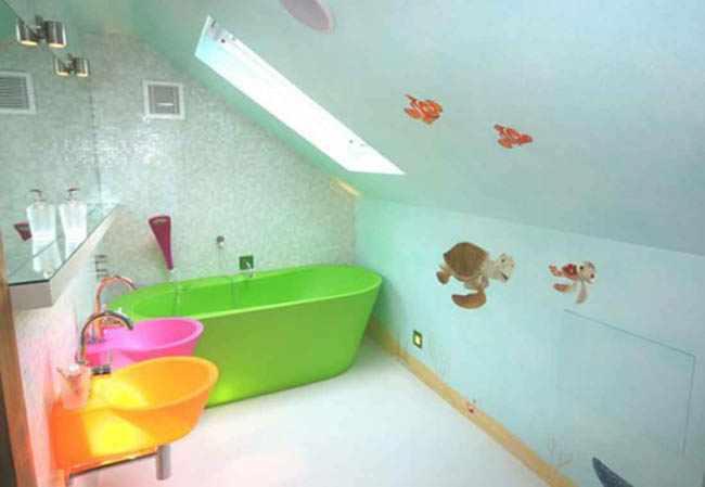 Decorar Baño Infantil:Como decorar un cuarto de baño para niños