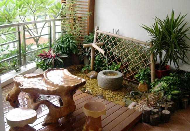 como decorar un balcon pequeño con plantas