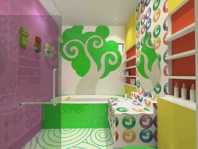 decorar baño de niños