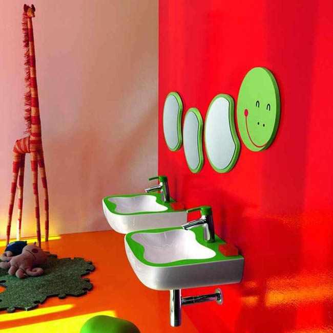 decorar un baño para niños
