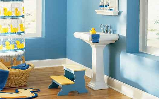 ideas para decorar un baño de niños