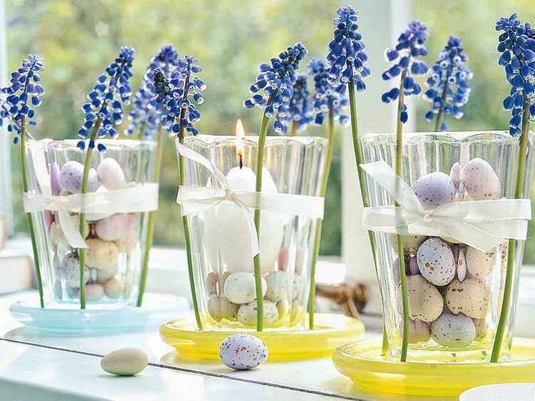 como decorar un jarron de cristal