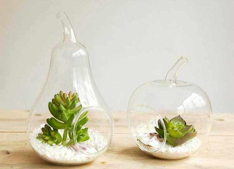 decorar jarrones de cristal