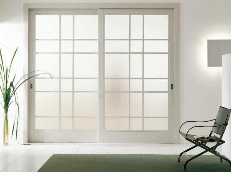 Cristales puertas de interior free puerta de interior con - Puertas correderas de salon ...