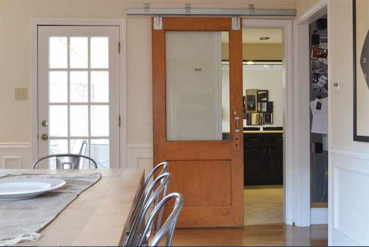 Puertas correderas sin obras cristal madera tutorial for Puerta lavadero