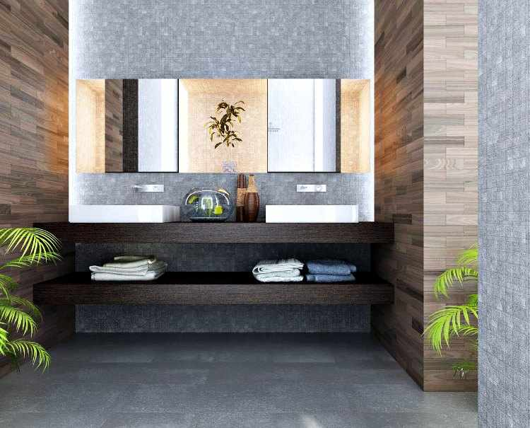 Dise o de interiores casas peque as muebles y decoracion for Disenos de banos de casas modernas