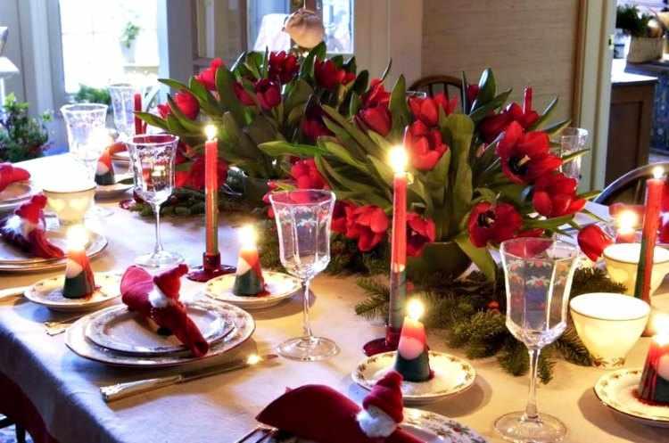 Como decorar la mesa de navidad - Como adornar mesa de navidad ...
