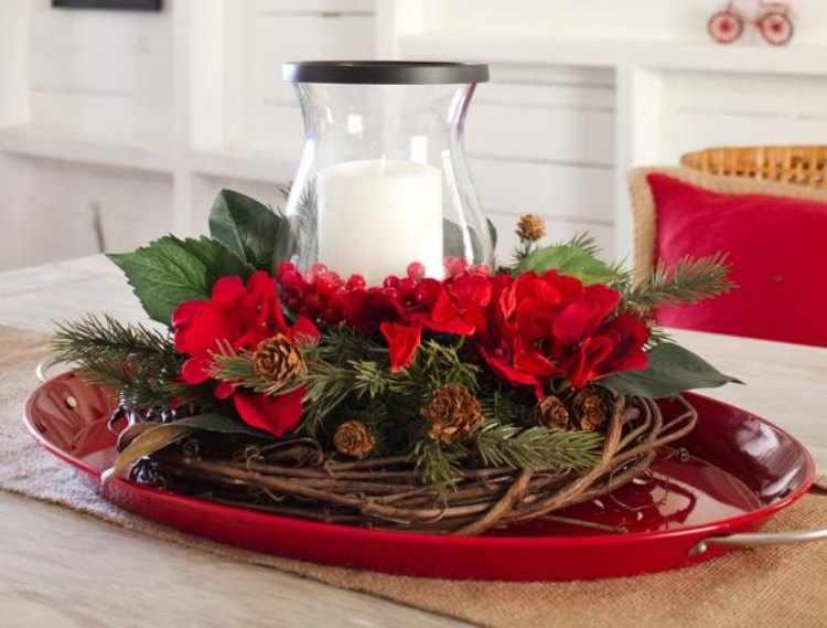 centro de mesa de navidad