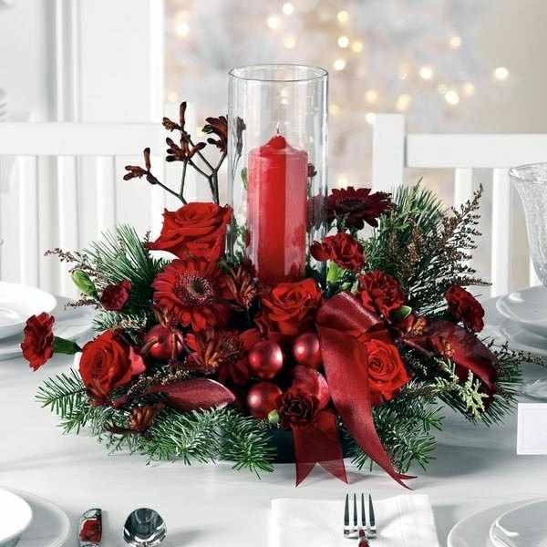 Como decorar la mesa de navidad - Centro de mesa navidad ...