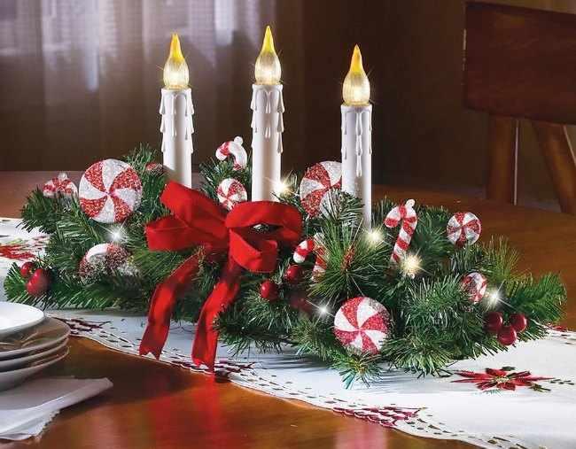 centros de mesas para navidad