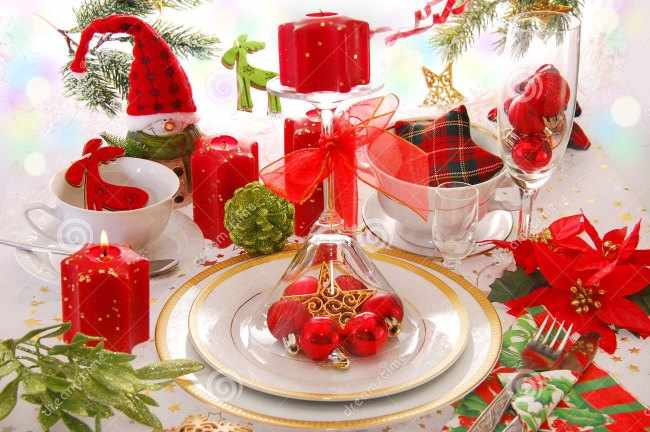 decoracion para mesas de navidad