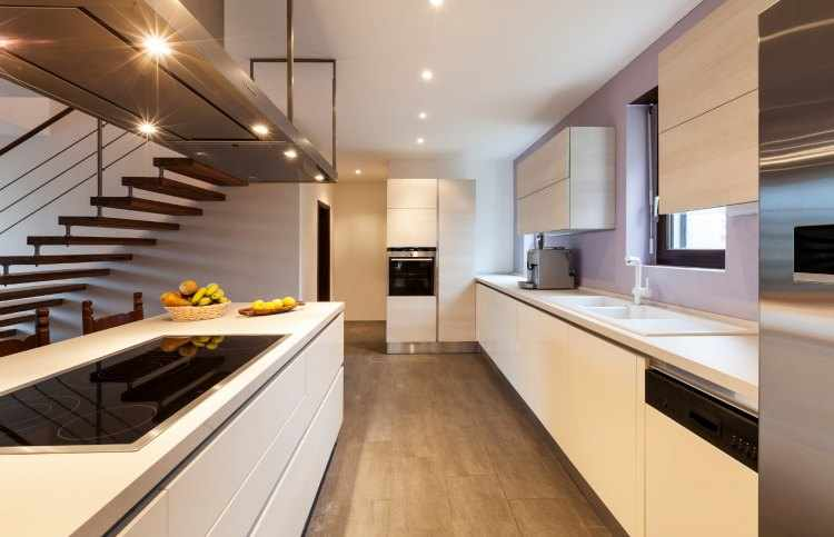 Iluminacion de interiores de casas leds y otros consejos - Iluminacion para cocinas modernas ...