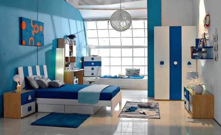 decoracion habitacion infantil azul