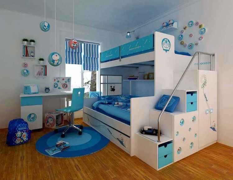 decorar habitacion infantil dos camas