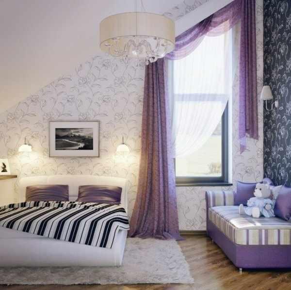 decorar habitacion infantil en lila