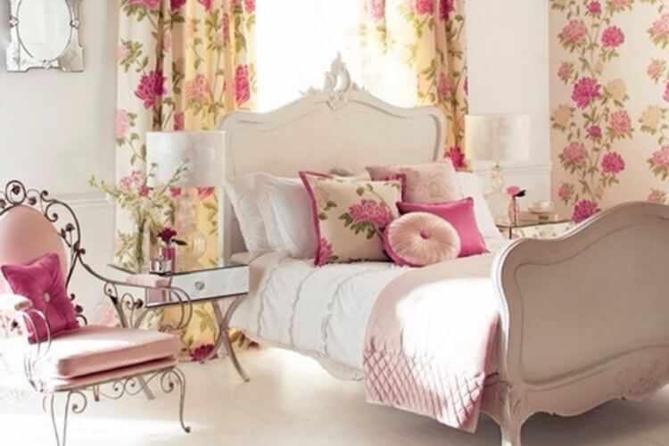 decoracion cama romantica