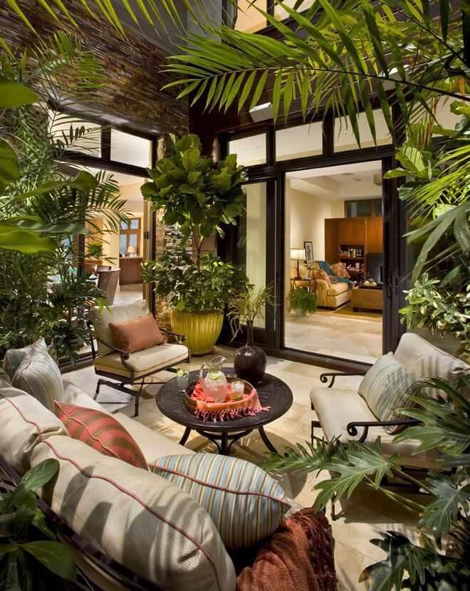 Decoracion de patios peque os for Decoracion con plantas para exteriores