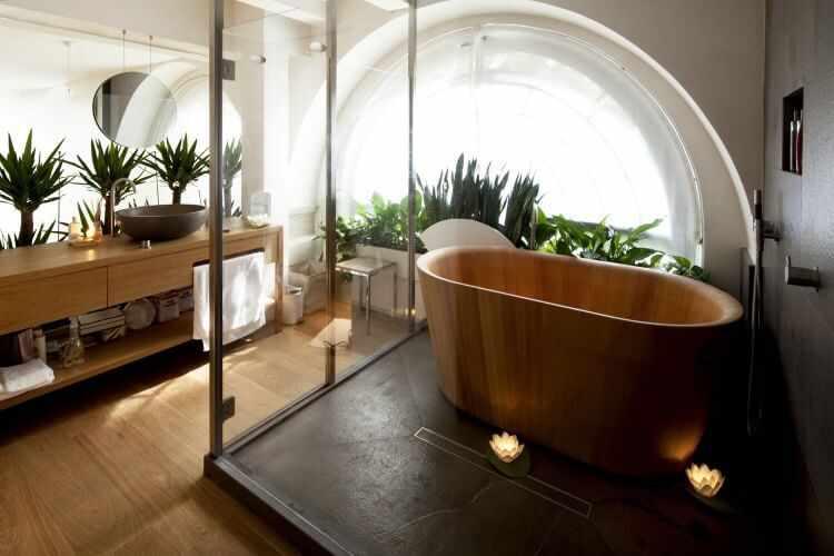 decoracion de baños estilo japones