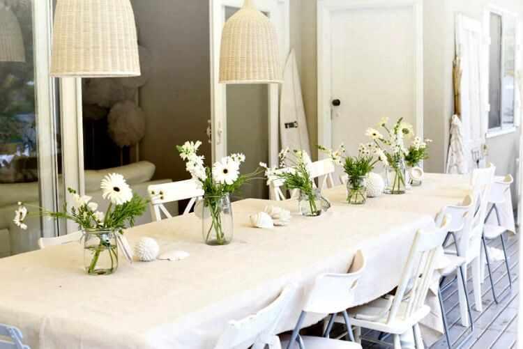 decoracion de mesas de verano