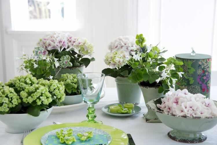 decoracion de mesas en verano