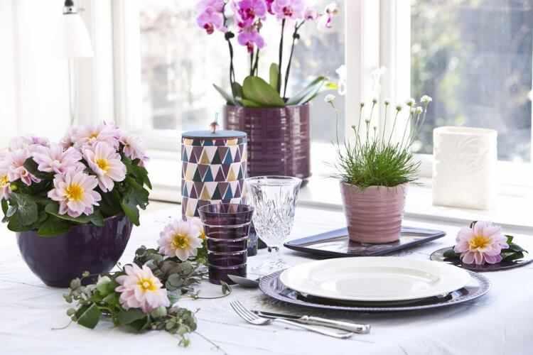 decoracion mesa cena verano