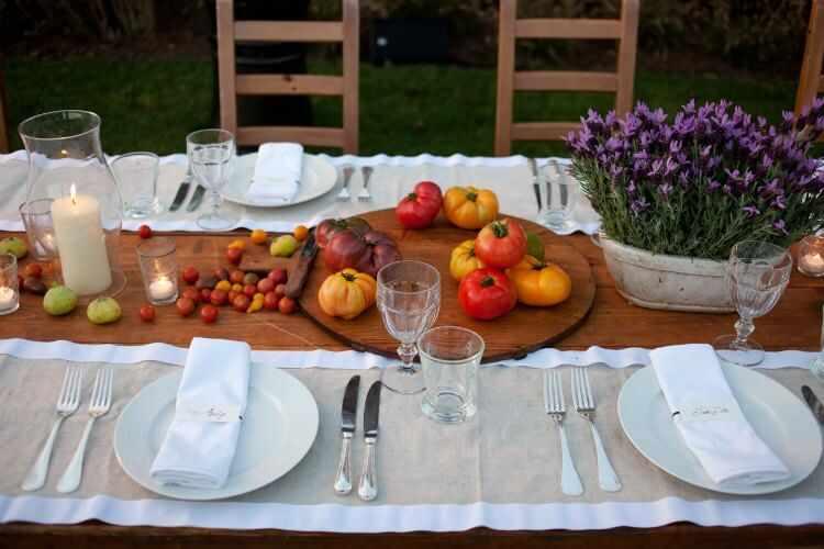 decoracion mesas de verano