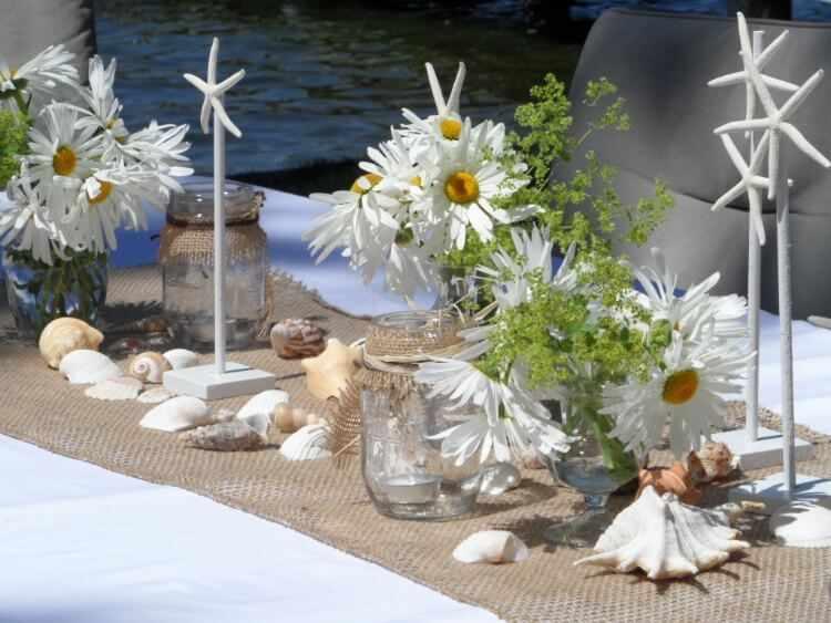 decorar mesa cena de verano