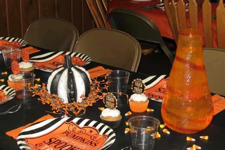 decoracion mesas halloween