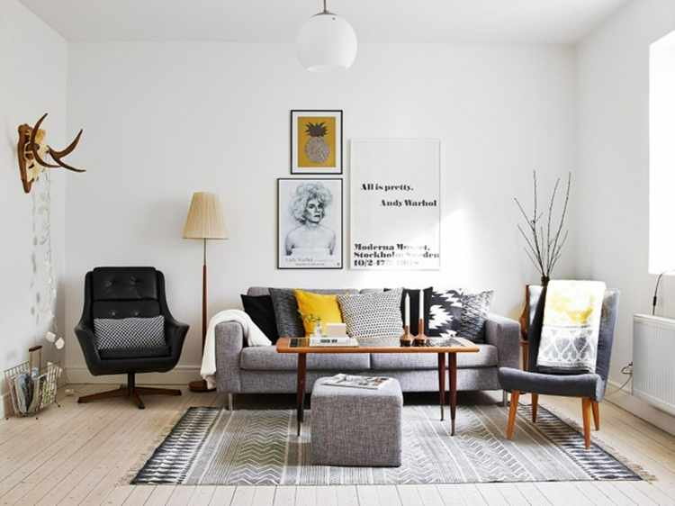 decoracion escandinava salones estilo nordico vintage On blog decoracion nordica