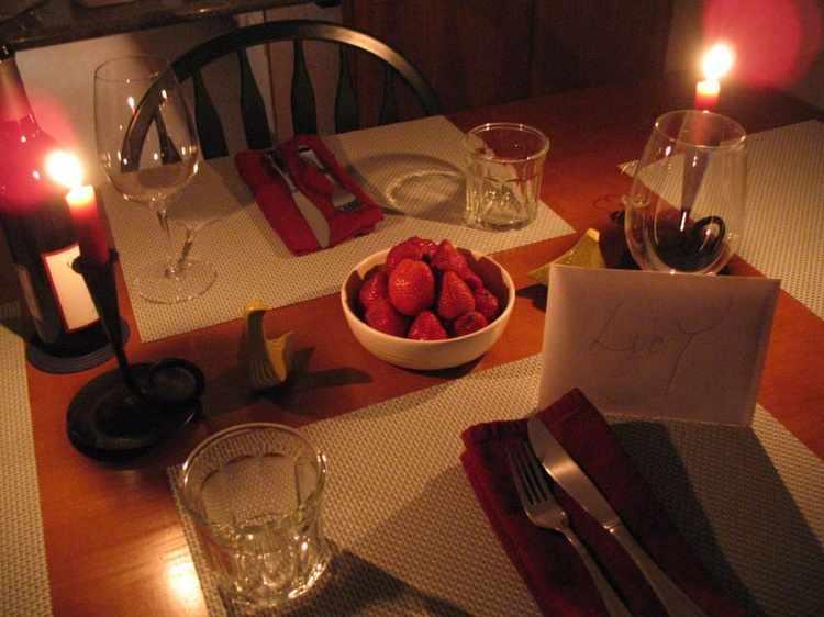 cena romantica casera