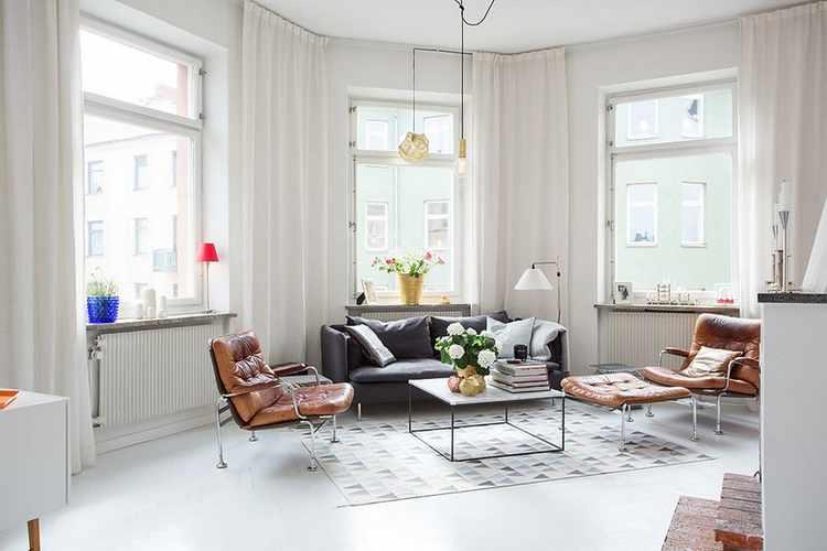 Decoracion escandinava salones estilo nordico vintage for Decoracion casa nordica