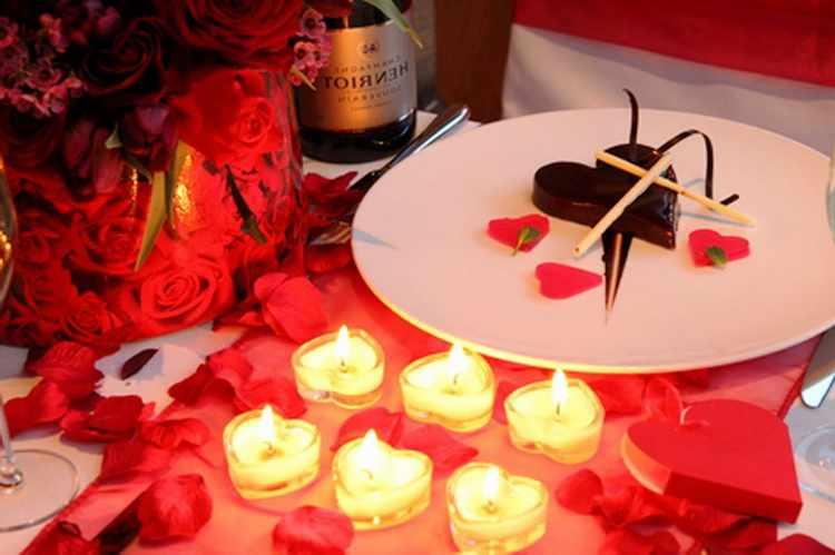 Decoracion de mesas para cenas romanticas en san valentin - Cena romantica a casa ...