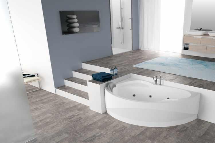diseño de baño con jacuzzi