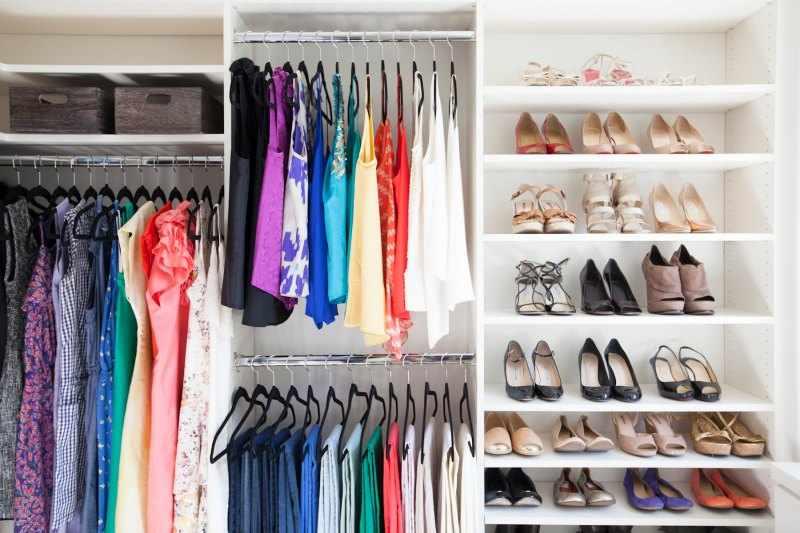 Como organizar un armario empotrado peque o mujer hombre - Como organizar armarios ...