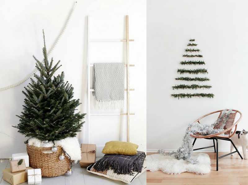 arbol de navidad estilo minimalista