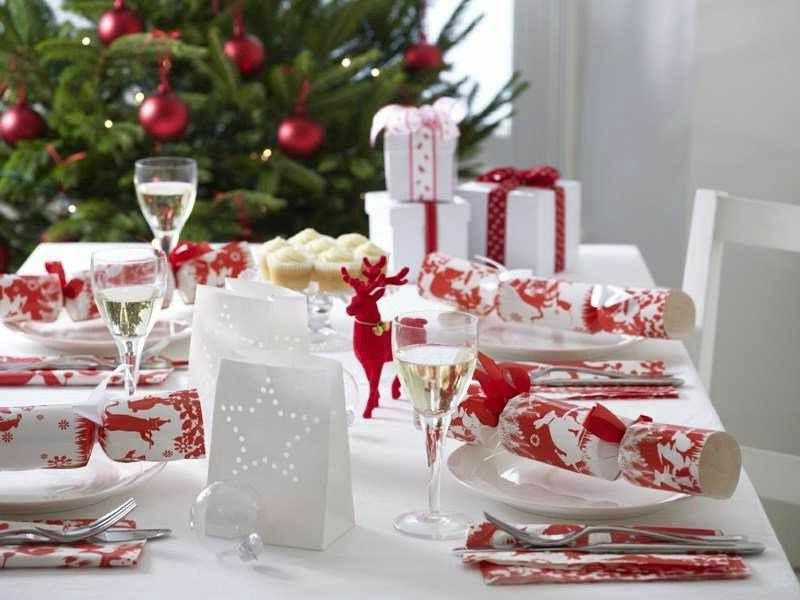 Decoracion de Navidad para la mesa de nuestro salon