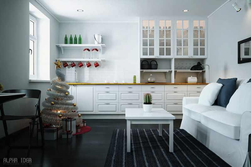 Decoracion de navidad minimalista