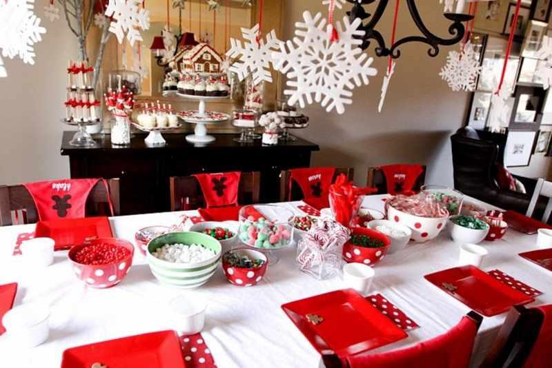 Decoracion mesa de Navidad original