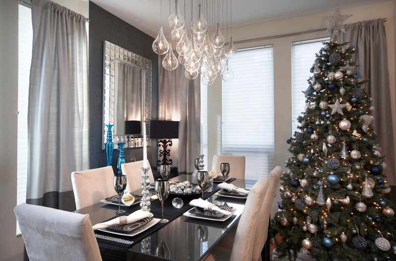 decoracion mesa navidad moderna