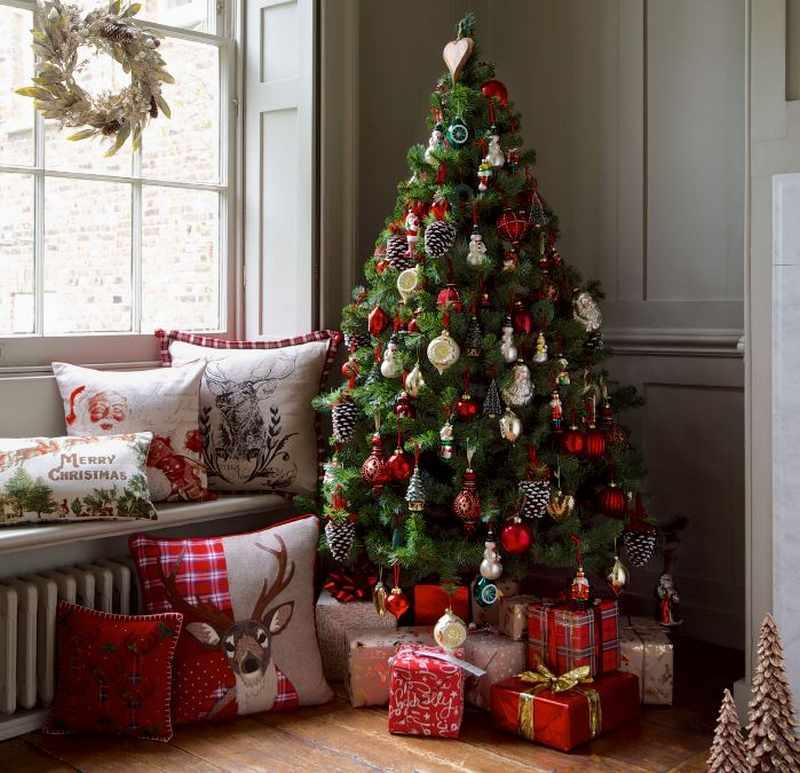 decoracion moderna arbol de navidad