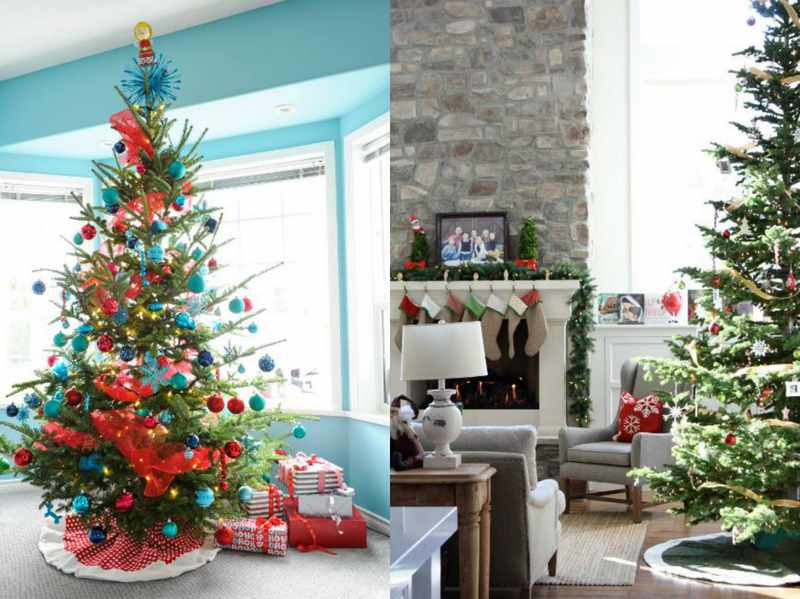 decoracion moderna para arboles de navidad